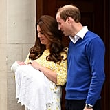 When William and Kate Sweetly Looked at Their Daughter