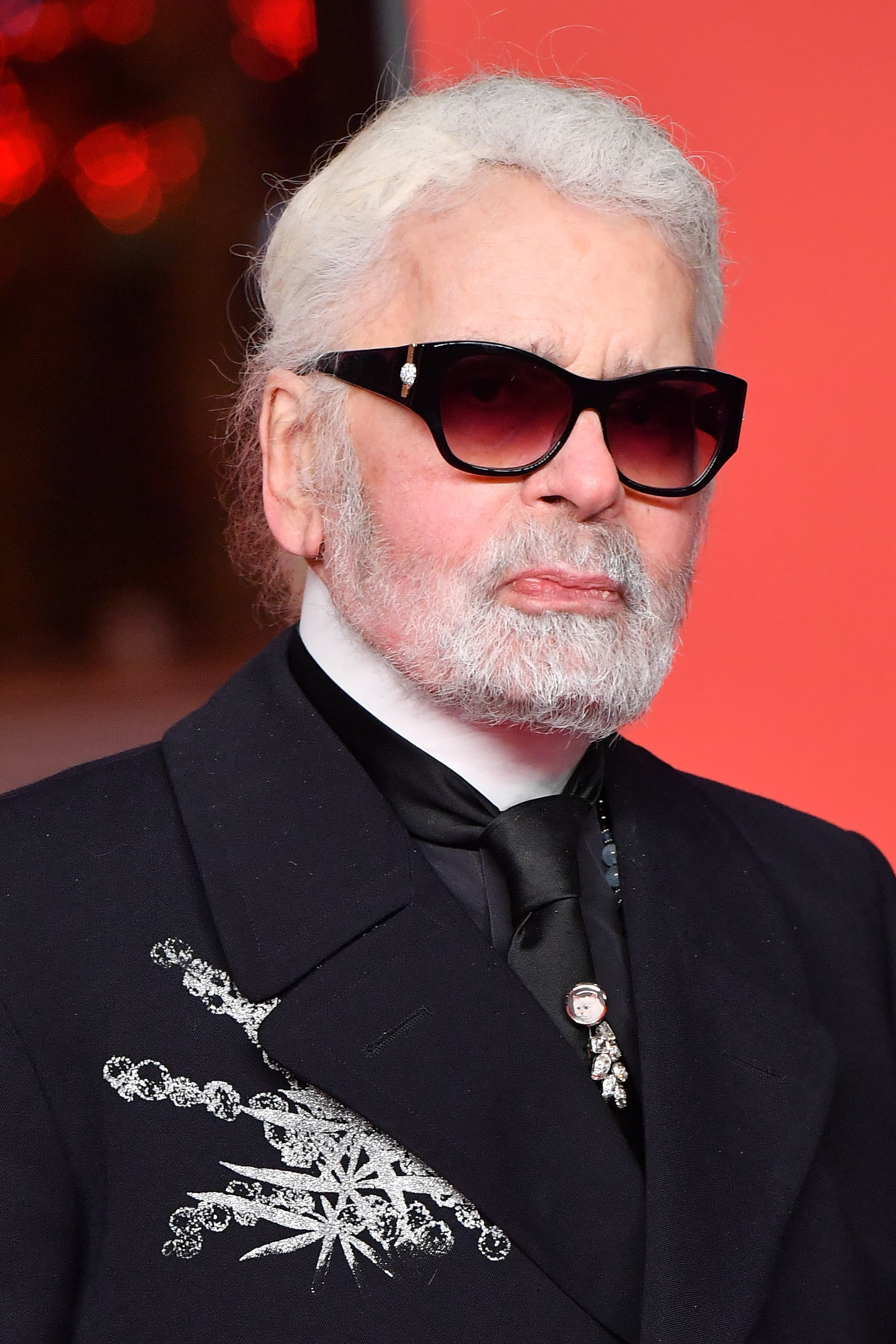 PARIS, FRANCE - NOVEMBER 22:  Karl Lagerfeld attends the Christmas Lights Launch On The Champs Elysees on November 22, 2018 in Paris, France.  (Photo by Stephane Cardinale - Corbis/Corbis via Getty Images)