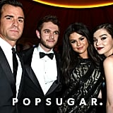 Justin Theroux and Hailee Steinfeld linked up with the musicians at Vanity Fair's star-studded Oscars afterparty in February.