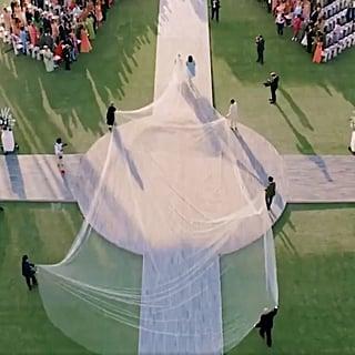 ردود الأفعال على طرحة زفاف بريانكا شوبرا