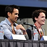 Colin Farrell and Anton Yelchin