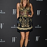 Anna Dello Russo chose an ornate Dolce & Gabbana mini for W's party.