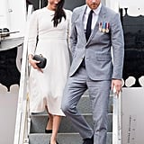 Day 8: Meghan Markle Wearing a Zimmermann Sress, Stephen Jones Fascinator, Kayu Clutch and Aquazurra Deneuve Pumps