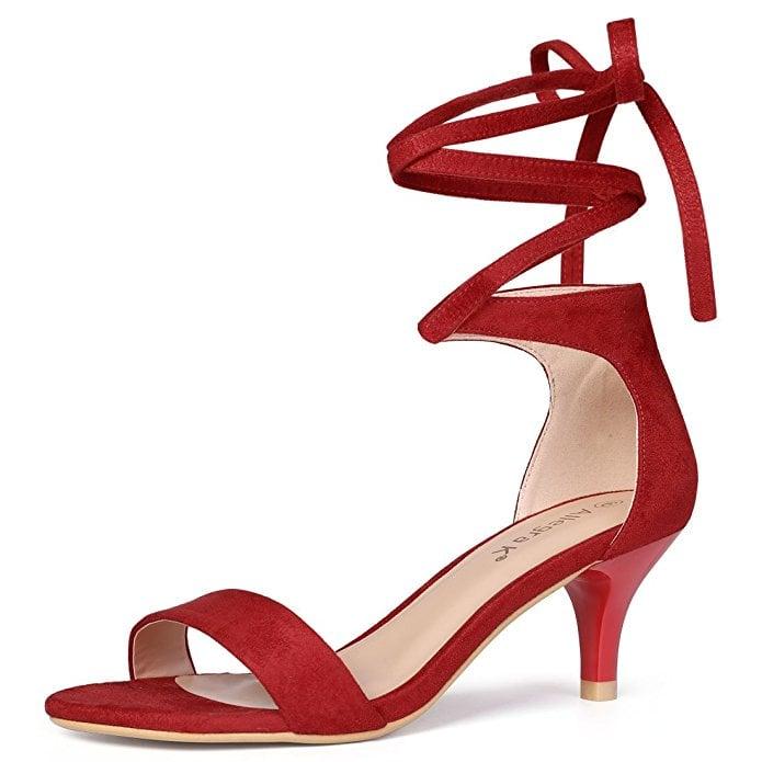 06997491a25 Allegra K Kitten Heels Sandals