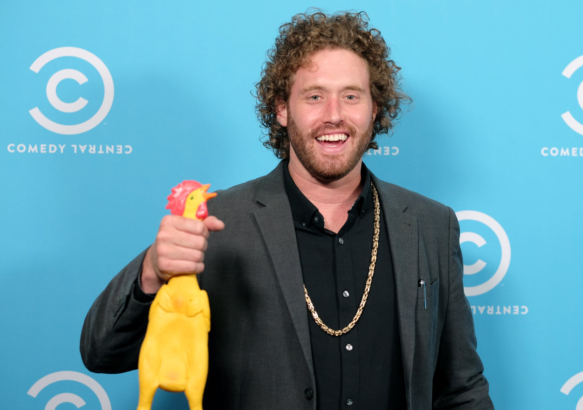 LOS ANGELES, CA - MAY 23:  Comedian T.J. Miller of 'The Gorburger Show'  attends Comedy Central's L.A. Press Day at Viacom Building on May 23, 2017 in Los Angeles, California.  (Photo by Matthew Simmons/Getty Images)