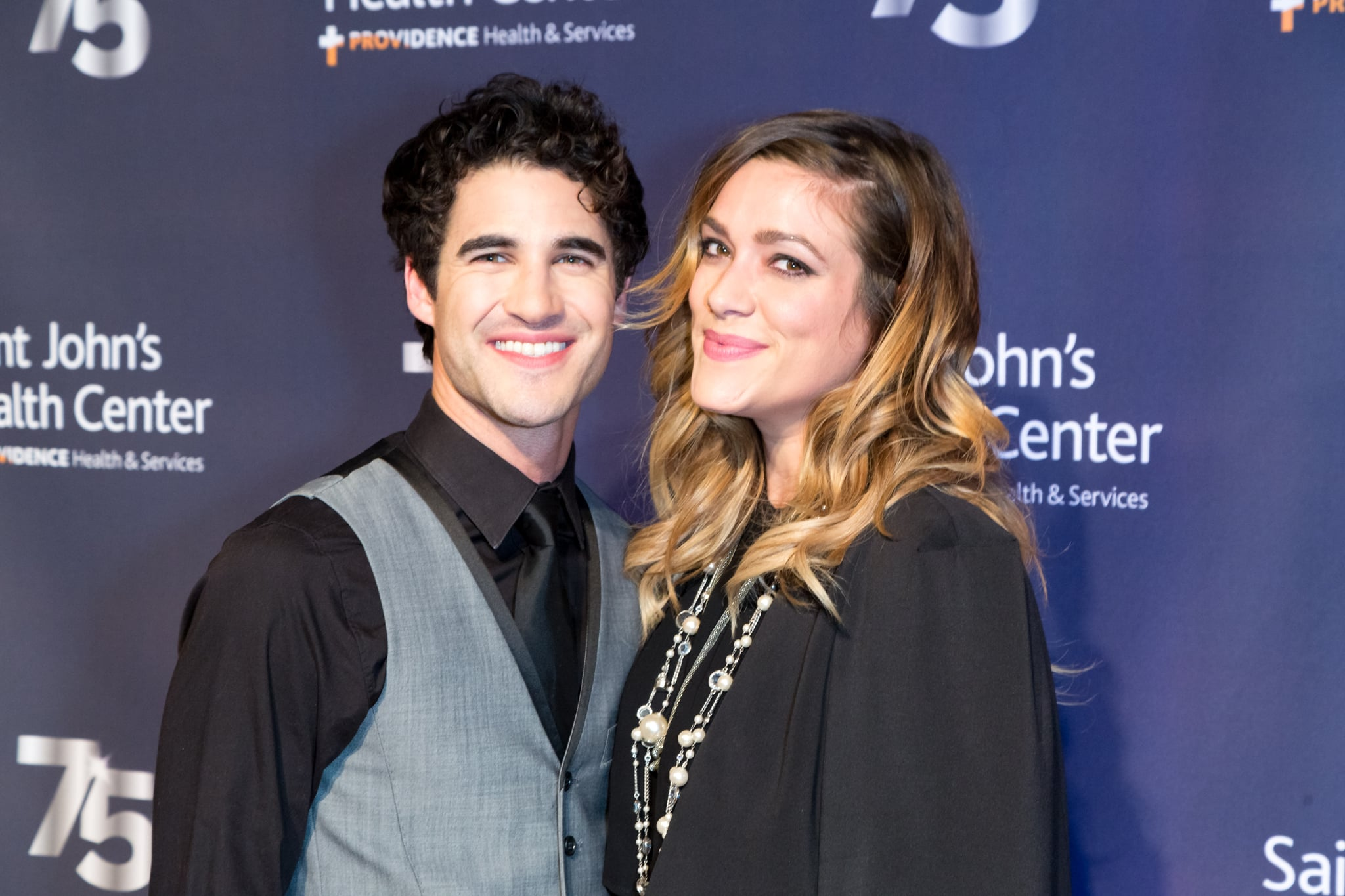 CULVER CITY, CA - OCTOBER 21:  Singer-songwriter Darren Criss and Director Mia Swier attend the Saint John's Health Centre Foundation's 75th Anniversary Gala Celebration at 3LABS on October 21, 2017 in Culver City, California.  (Photo by Greg Doherty/Getty Images,)