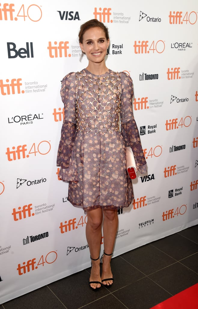 Natalie Portman looked absolutely gorgeous during her appearance at the Kickoff Fundraising Soirée for the Toronto International Film Festival in Canada on Wednesday. The 34-year-old actress donned a floral dress and flashed a smile while posing for pictures on the red carpet. We haven't seen much of Natalie since she opened up to Harpers Bazaar about the balance between parenthood and her career in July. She also hasn't walked a red carpet since May, when she and her husband, Benjamin Millepied, stunned at the Cannes Film Festival. Keep scrolling to see the best moments from Natalie's latest appearance, and then check out her evolution from rising star to Hollywood role model.