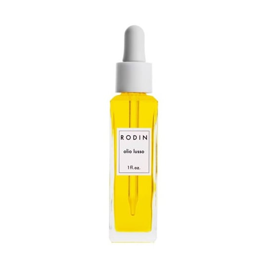 """""""I like to share my favorite beauty products, because a lot of us get into a rut and buy the same beauty products. So I think it's fun when you share the products that you love with somebody. The Rodin Olio Lusso Face Oil ($150) is one of those things that you may not want to spend the money on, but if you try it once, you know that it's worth it. It's so luxurious."""""""