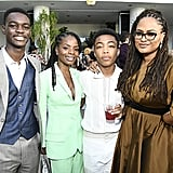 Asante Blackk and the Cast of When They See Us at the BAFTA Los Angeles and BBC Tea Party