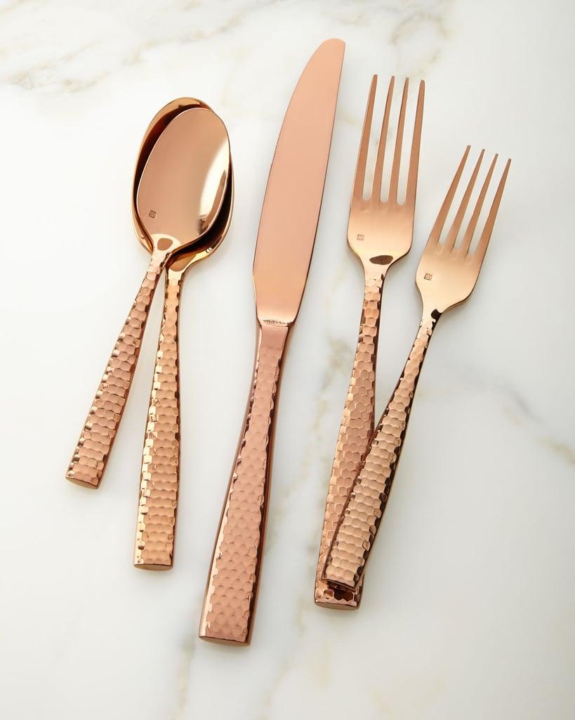 Lucca Rose Golden Flatware 20-Piece Set