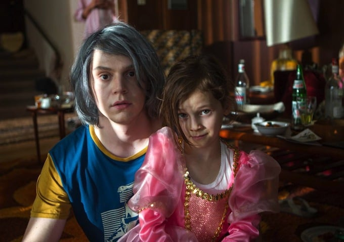 Finally, a look at Evan Peters as Quicksilver!