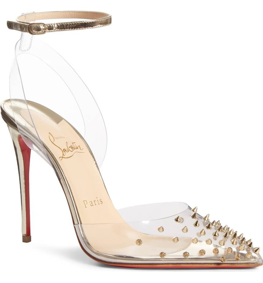 09b5ccefc9e3 Christian Louboutin Spikoo Clear Ankle Strap Pump