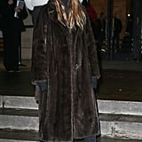 "Miroslava also styled her Nike Cortez sneakers with a long furry coat and ""Google"" hat at Paris Couture Week in January 2017. Easy enough — one and done."