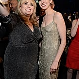 Rebel Wilson and Anne Hathaway teamed up for a picture during the Critics' Choice Awards.
