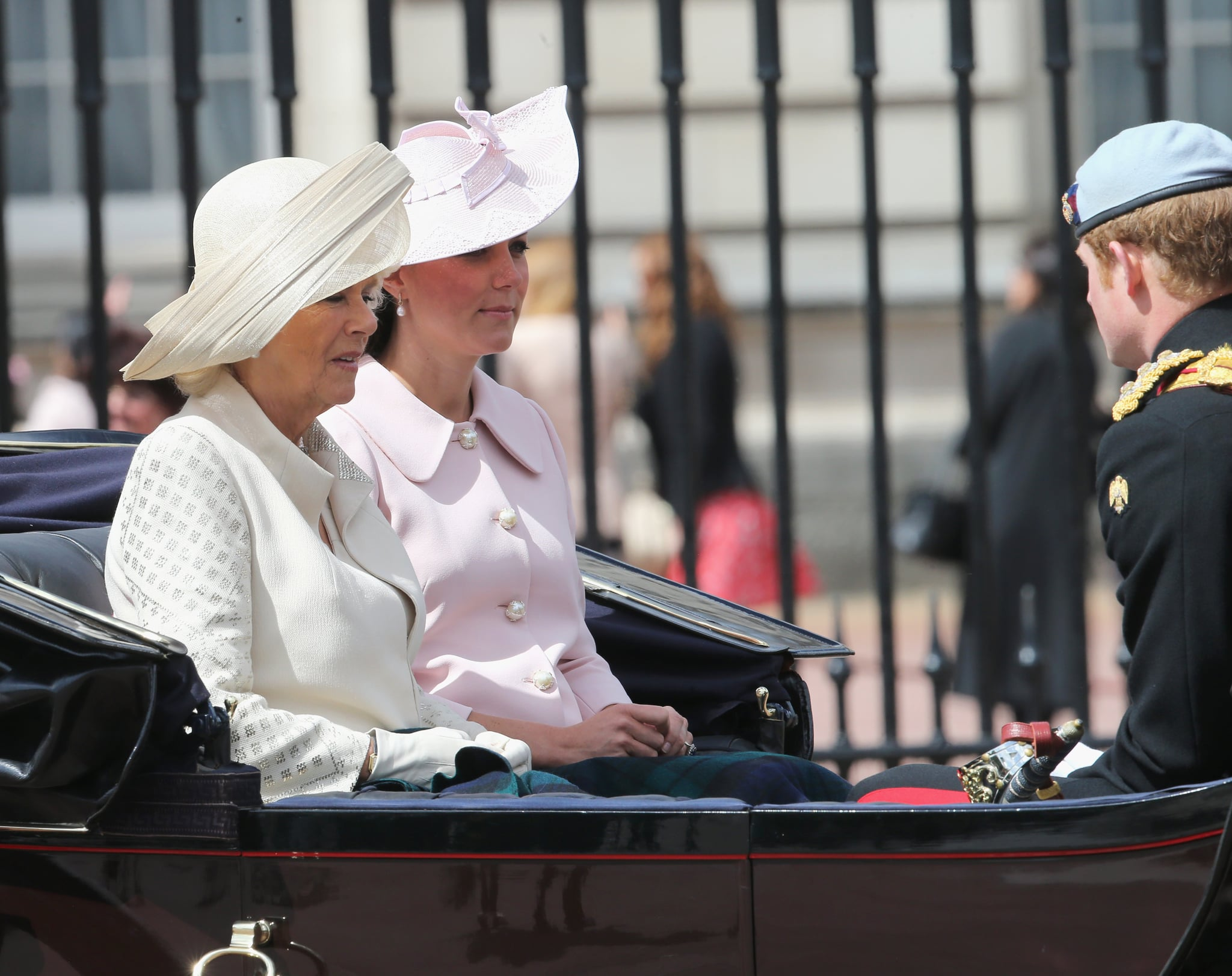 Kate Middleton and Camilla chatted with Prince Harry.