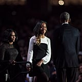 Malia Obama Wore a Colorblock Dress to Her Father's Presidential Farewell Speech