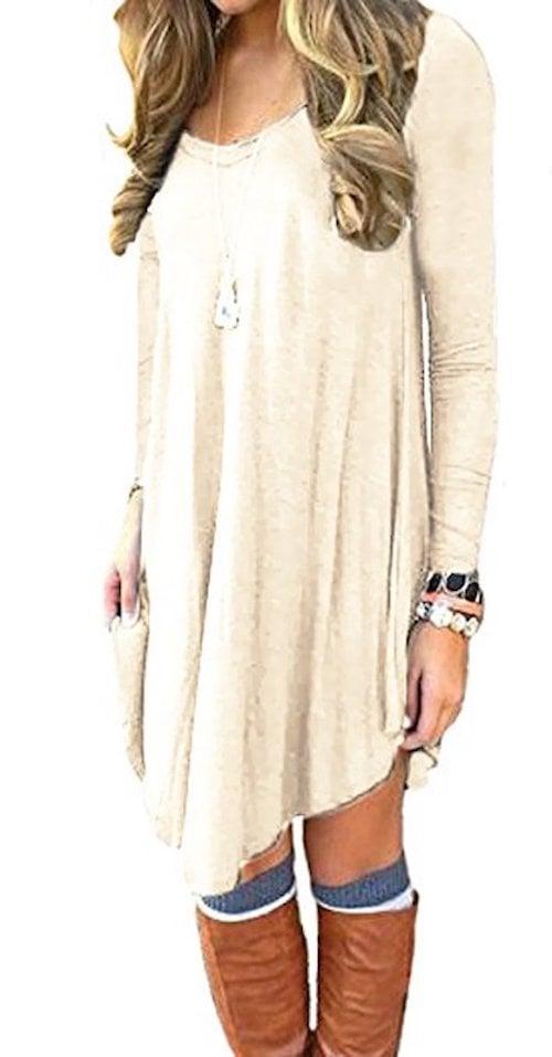 Dearcase Long-Sleeve T-Shirt Dress