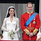 Prince William and Kate Middleton The Bride: Kate Middleton, Prince William's classmate at the University of St. Andrews and girlfriend of 10 years. The Groom: Prince William, the third in line to British throne. When: April 29, 2011. Where: Westminster Abbey, in front of 1,900 guests.