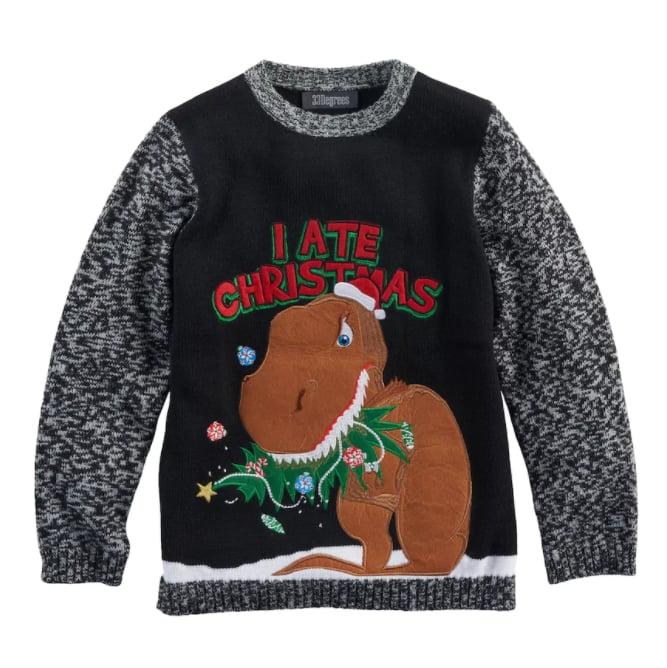 i ate christmas dinosaur sweater - Dinosaur Christmas Sweater