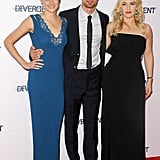 Shailene Woodley, Theo James, and Kate Winslet premiered Divergent in London on Sunday.