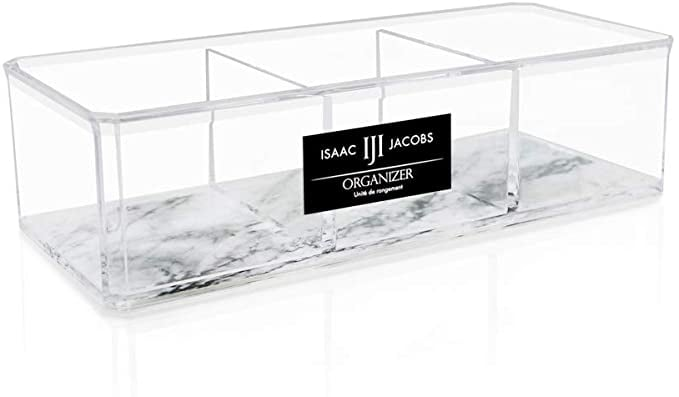 Isaac Jacobs Clear Acrylic 3 Section Organizer