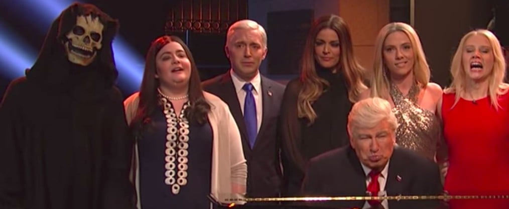 """Watch Donald Trump Belt Out """"Hallelujah"""" in This SNL Cold Open"""