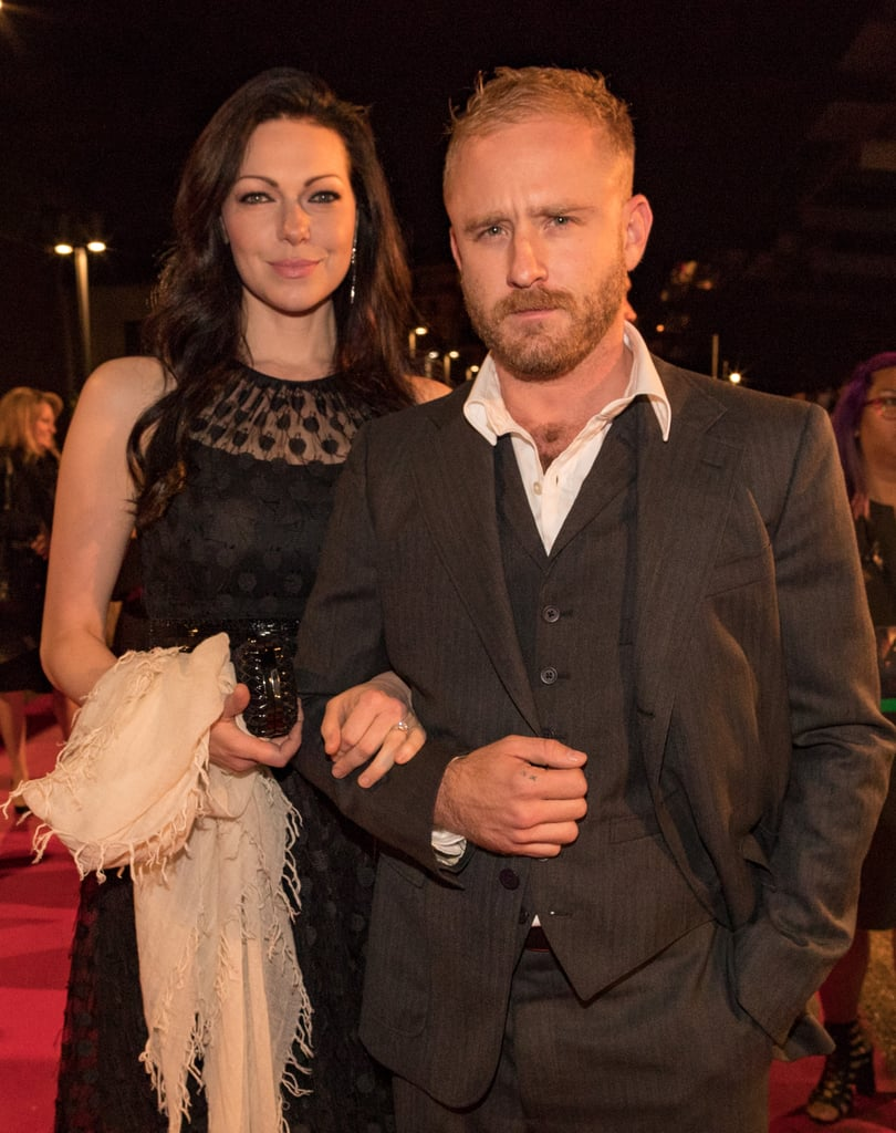"""After confirming their engagement last week, Laura Prepon and Ben Foster attended the world premiere of Inferno in Florence, Italy, on Saturday evening. Laura wore a black polka-dot dress, which she paired with her blindingly gorgeous diamond sparkler, while Ben looked handsome in a black suit. Also at the event was Tom Hanks, who brought along his lovely wife, Rita Wilson. Laura and Ben first sparked romance rumors when they were spotted out together in NYC back in July, but the Orange Is the New Black actress has actually known her fiancé since she was 18. Laura and Ben are mutual friends with her That '70s Show costars Danny Masterson and Ashton Kutcher, and during an appearance on Live With Kelly on Friday, Ashton joked about how upset he was that he found out about their surprise engagement on the news instead of from the stars themselves. """"I'm double upset that neither of them told me and I got off the plane in New York and was like, 'What?!' They're all my friends and everybody is hooking up and it's weird!"""" he said.      Related:                                                                                                           40 Engaged Celebrity Couples We Can't Wait to See Tie the Knot"""