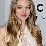 Amanda Seyfried smiled for the photographers.