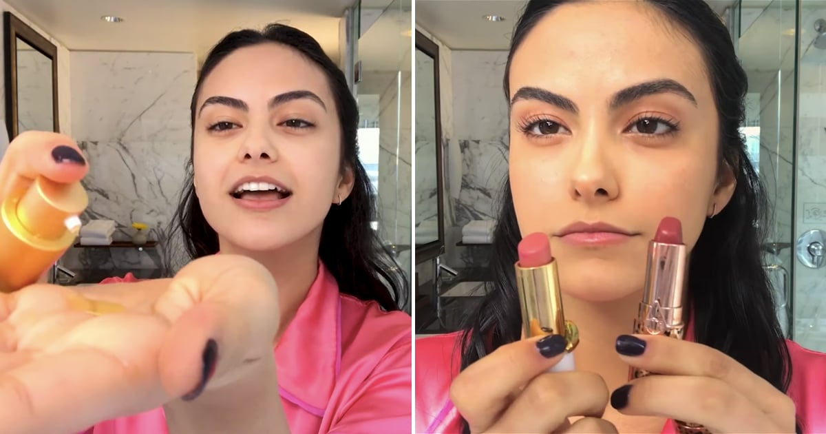 Camila Mendes recently shared her skincare and makeup secrets in a tutorial for