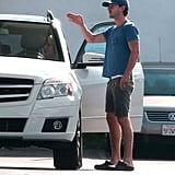 Shia LaBeouf gave directions to a lady at a gas station in Sherman Oaks, CA.