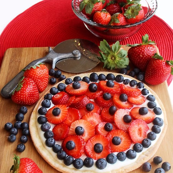 Healthy Berry and Yogurt Dessert Pizza