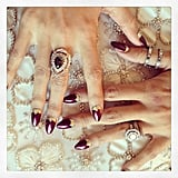 Our jaws dropped when we saw Nicole Richie's gorgeous nail art for the Met Gala. Source: Instagram user nicolerichie