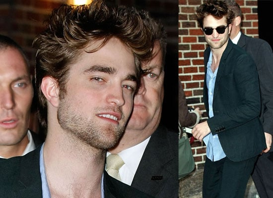 Photos of Robert Pattinson at the Late Show with David Letterman