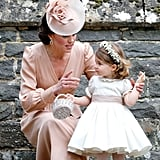 Princess Charlotte served as a flower girl in Pippa Middleton's wedding.
