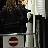 Kristen Stewart arrived in Berlin following a stay in London.