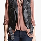 Inject some toughness into your Fall wardrobe with BB Dakota's faux-leather motorcycle vest ($59, originally $88).