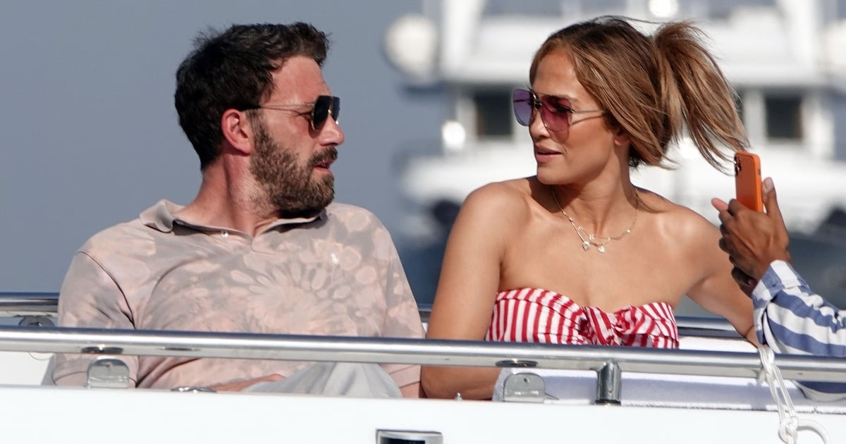 J Lo's Red-and-White Striped Bandeau Is Now the Focus of Her Romantic Vacation