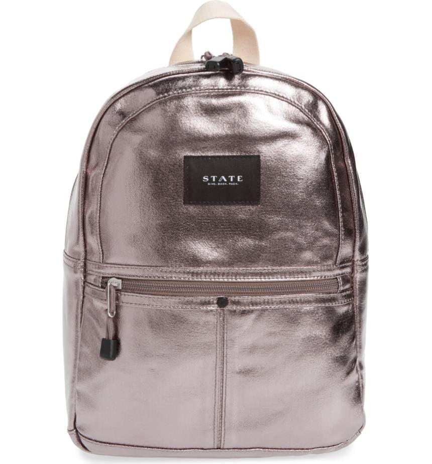 c081e951209 State Bags Mini Kane Backpack - Metallic