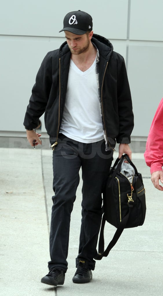 Robert Pattinson carried his own bag.