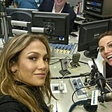 Jennifer Lopez stopped by a radio show to promote her new single. Source: Twitter user JLo