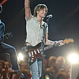 Keith Urban on stage at the CMT Awards.