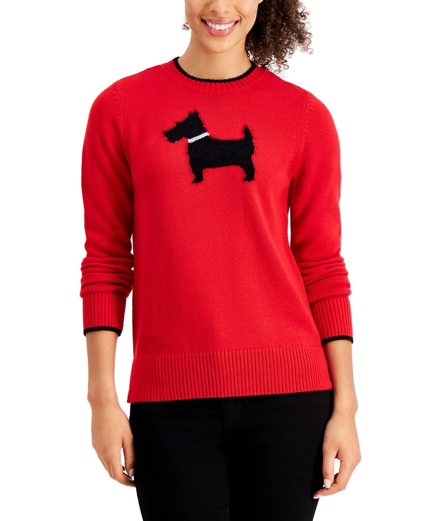 Charter Club Terrier-Print Sweater