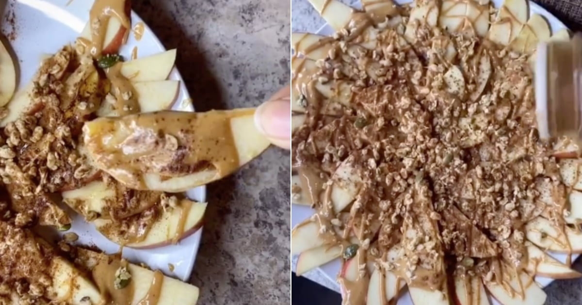 Apple and Peanut Butter Nachos Are Perfect to Share During Halloween Movie Marathons