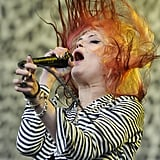 The Kills' Alison Mosshart whipped her hair back and forth.
