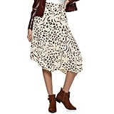 Nine West Petite Asymmetrical D-ring Belted Skirt