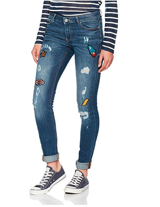 Springfield Patch Detail Jeans (£26.39)