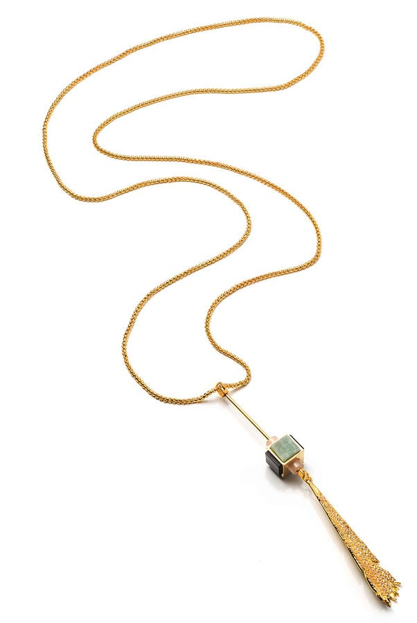 Eddie Borgo Plume Long Pendulum Necklace ($250)