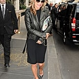 Kate Moss took a break from Paris Fashion Week to go shopping.