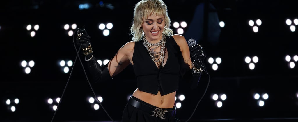 Miley Cyrus Wears YSL Outfit For NCAA Final Four Concert