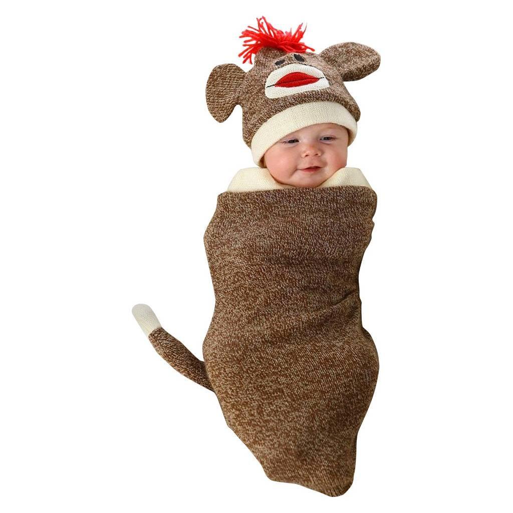 Infant Marv the Monkey Bunting Costume Brown ($30)  sc 1 st  Popsugar & Infant Marv the Monkey Bunting Costume Brown ($30) | Kidsu0027 Halloween ...